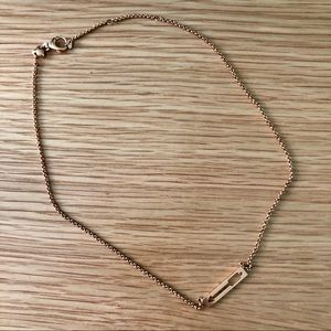 Fossil Arrow Rose Gold Necklace